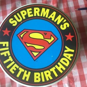 Superman's 50th Birthday large tin